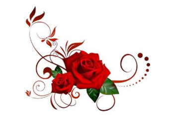 340x270 Rose Clipart Decal