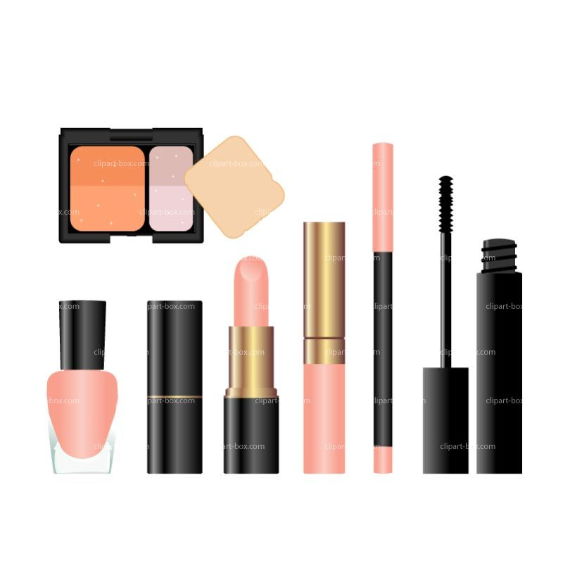 800x800 Cosmetic Kit Clip Art Clipart Cosmetic Set Royalty Free Vector