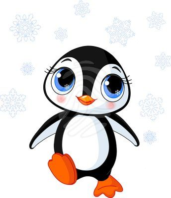 344x400 Cute Clip Art Cute Winter Penguin Beauty Clipart 53257653 Jpg