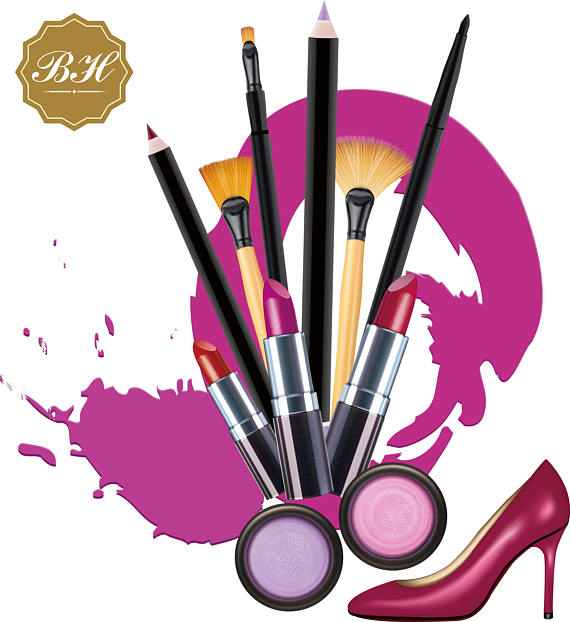 570x622 Makeup Clipart Cosmetics Clipart Makeup Brush Clipart