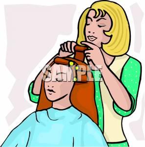 297x300 Hair Dresser Clipart