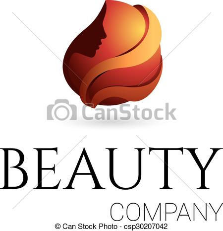 450x465 Beauty Company Logo. Vector. Logo For Beauty Salon, Company Eps