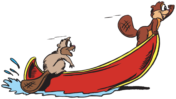 600x340 Beaver Rowing Canoe Clip Art Download