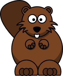 246x297 Cartoon Beaver Clip Art