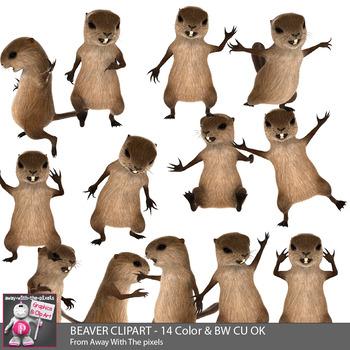 350x350 Funny Beaver Clip Art