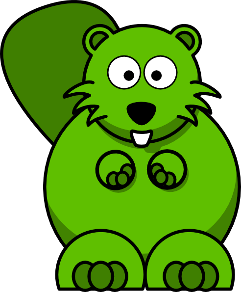 492x595 Green Beaver Cliparts