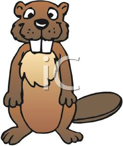 253x300 A Cartoon Beaver Clip Art Image