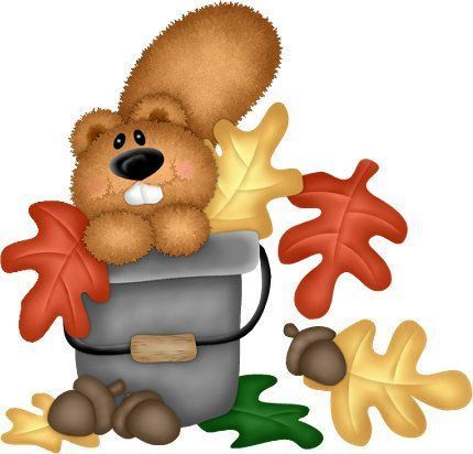 430x412 Autumn Beaver In A Bucket Kids Clip Art, Autumn