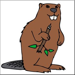 304x304 Clip Art Cartoon Beaver Color I Abcteach