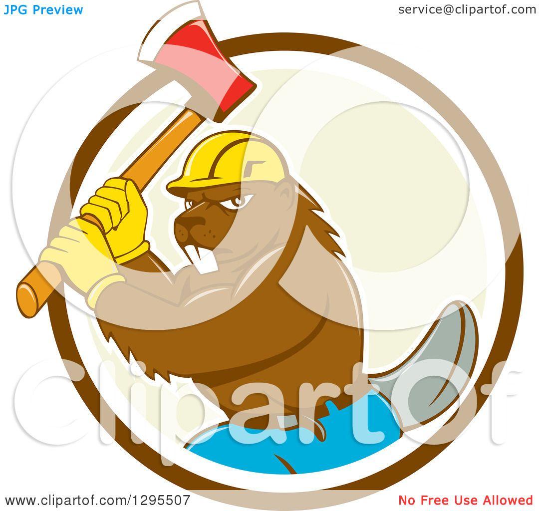 1080x1024 Clipart Of A Retro Cartoon Lumberjack Beaver Wearing A Hard Hat