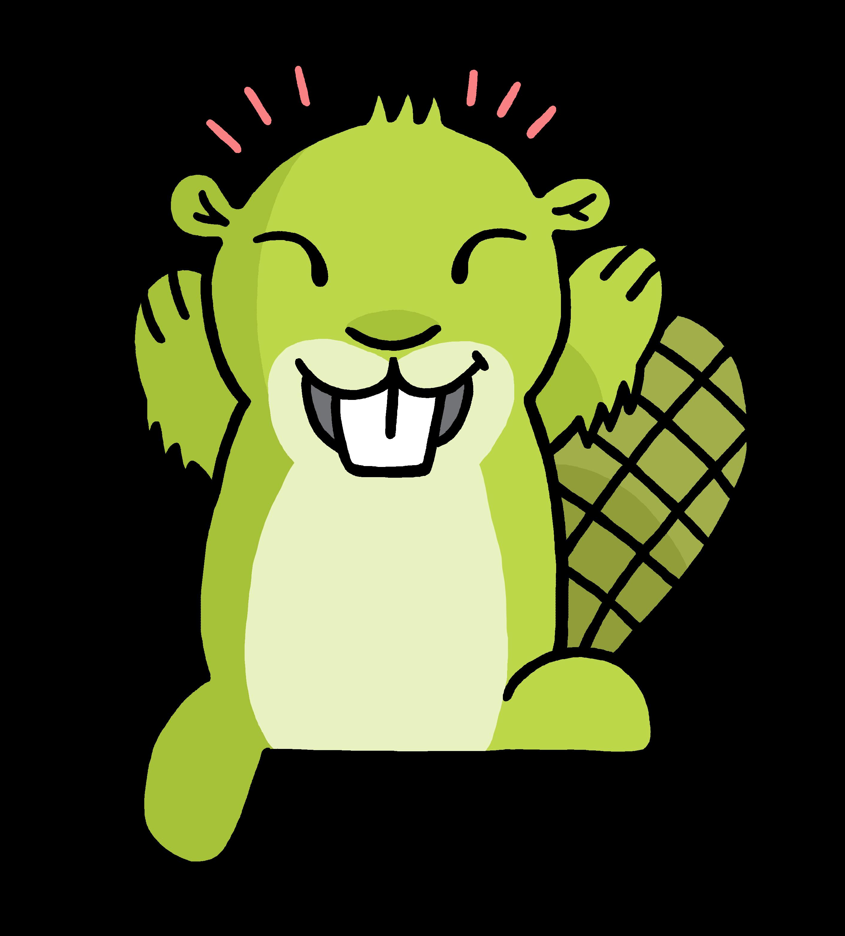 2823x3127 Green Beaver Cliparts