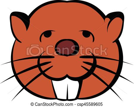 450x358 Head Of Beaver Icon Cartoon. Head Of Beaver Icon In Cartoon