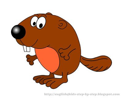 400x331 Cute Cartoon Beaver Clip Art For Teachers Clipart