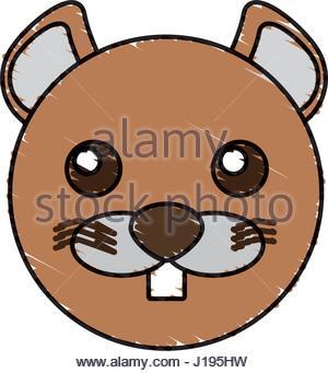 300x341 Funny Beaver Cartoon Illustration Stock Photo 103011036