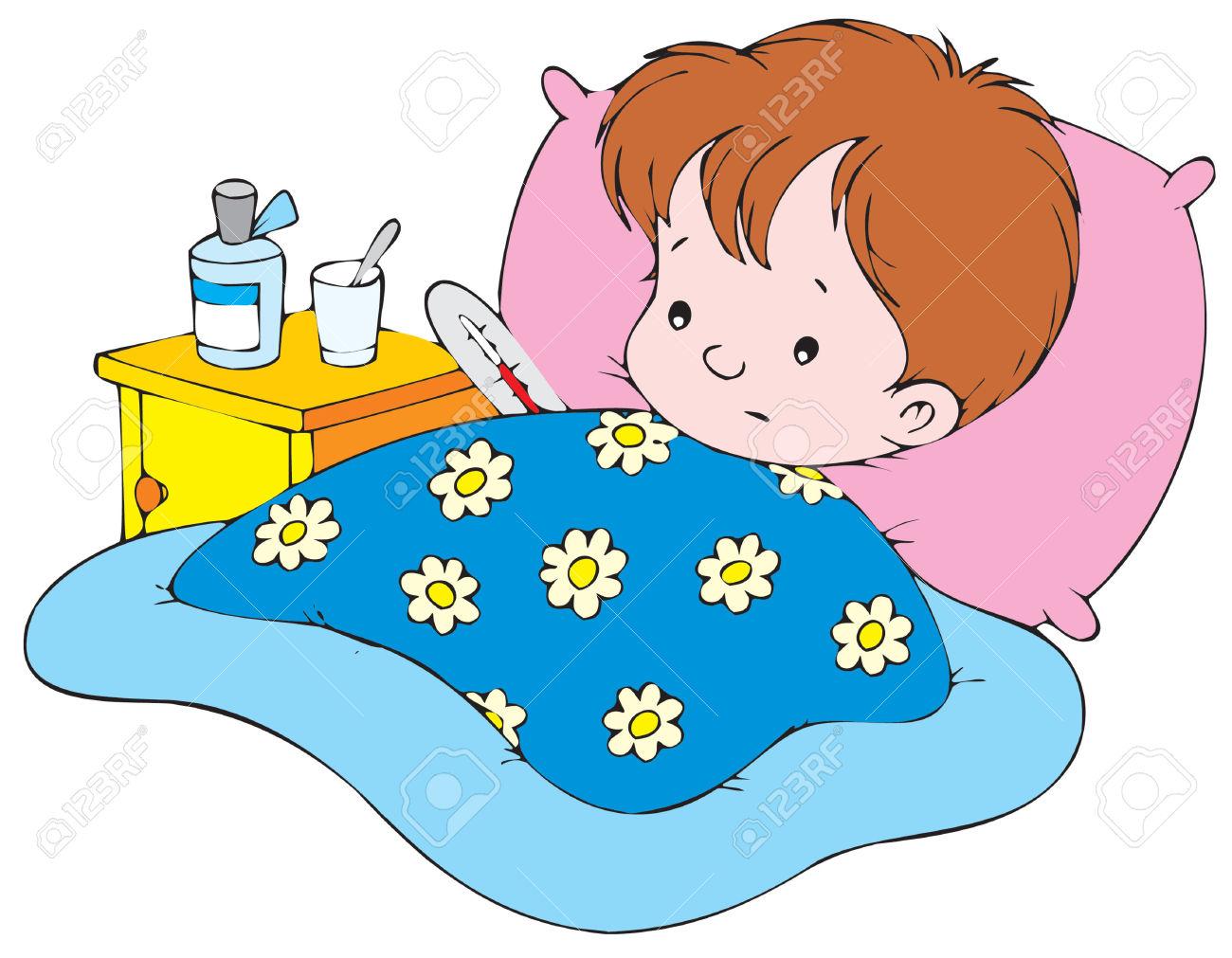 1300x1011 Clip Art Child In Bed Clip Art