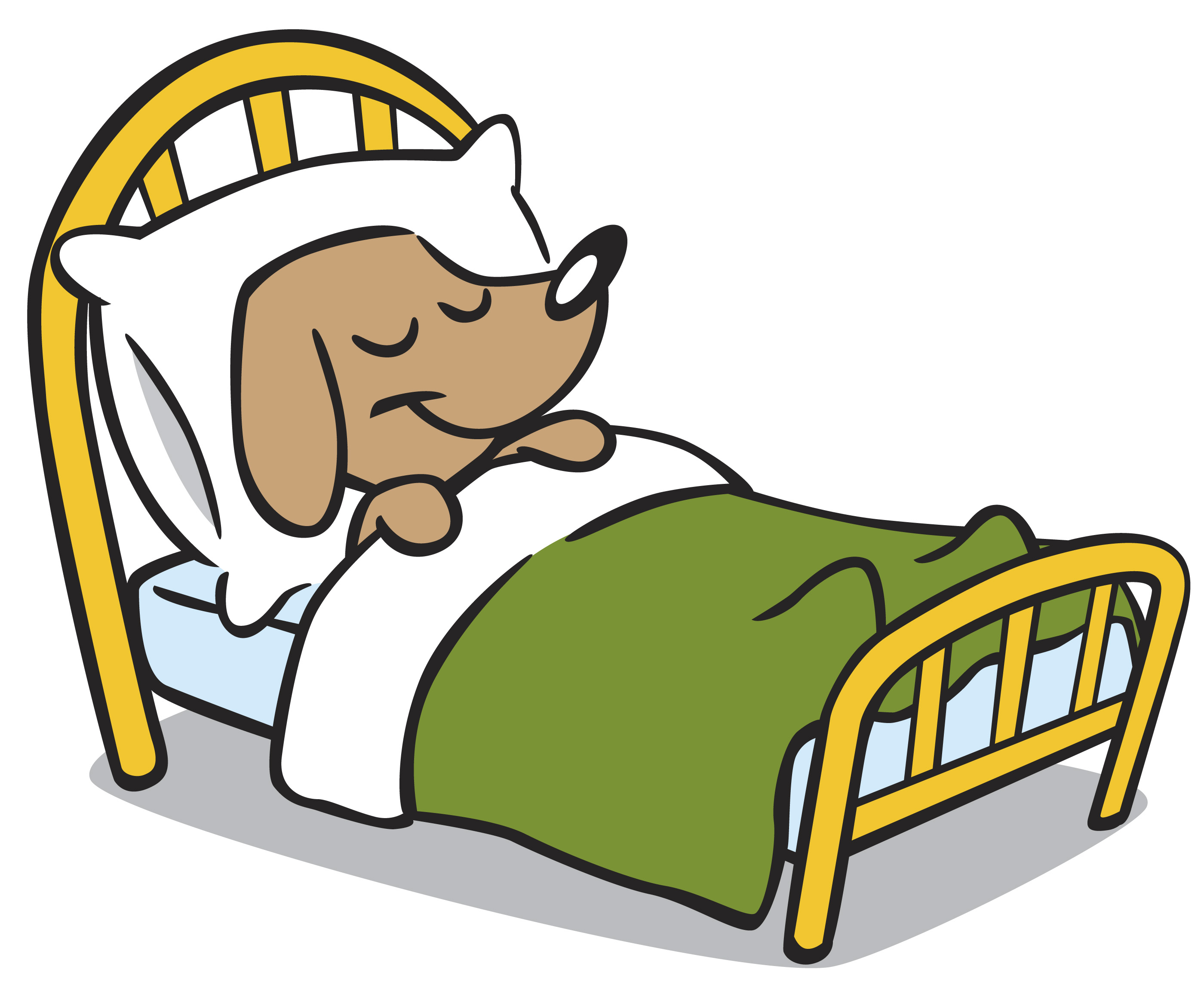 2800x2304 Clip Art Dog Bed Clipart Clipart Kid