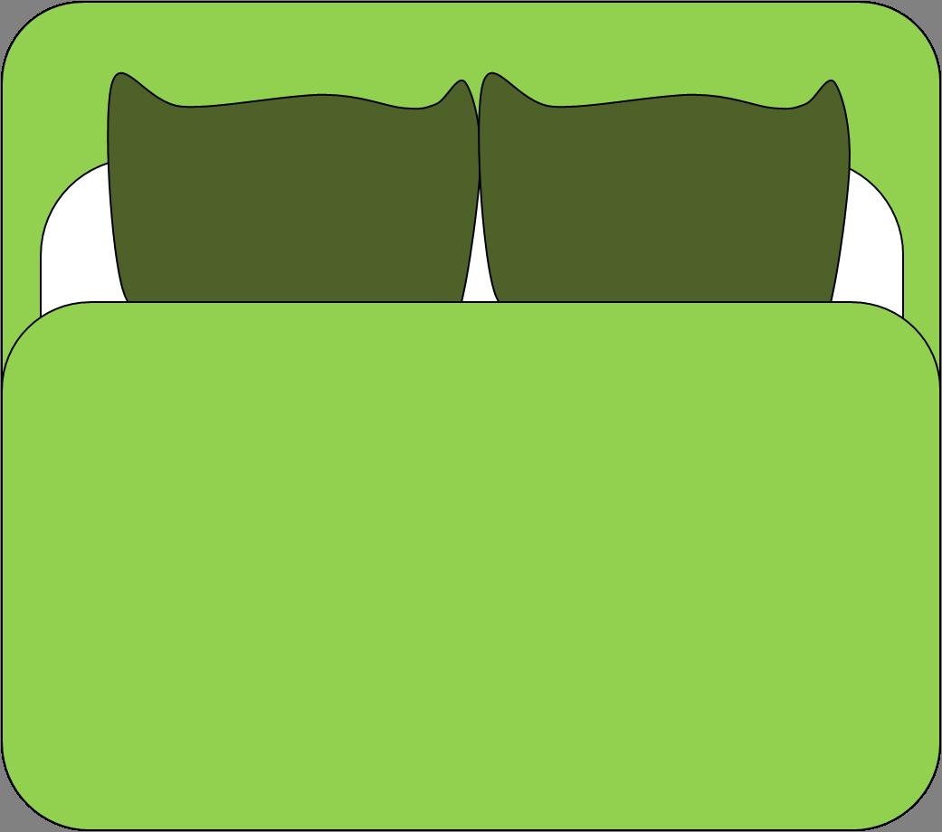 1041x920 Dubbal Bed Cartoon Clipart