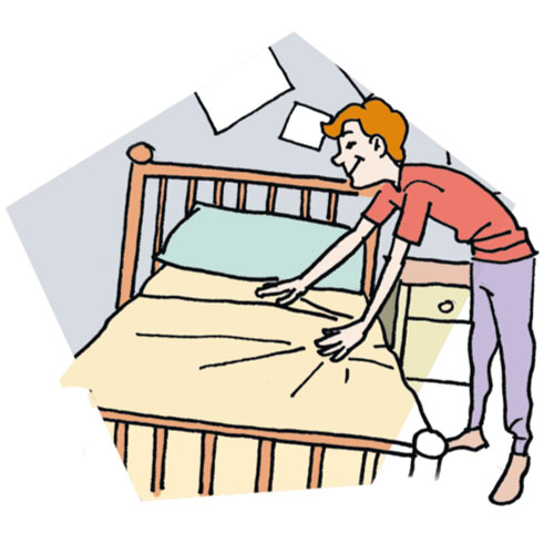 500x500 Make Bed Clip Art