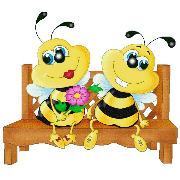 600x600 Blue Flower Clipart Honey Bee Picture