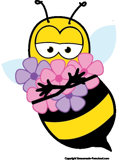 388x526 Clip Art Of Flowers And Bees