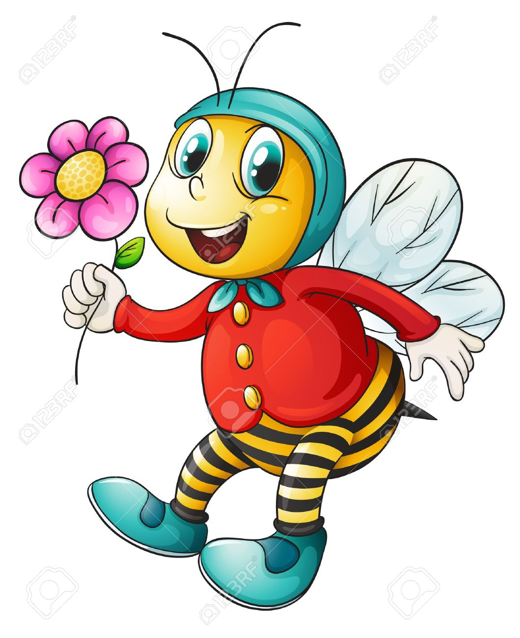 1059x1300 Honeybee And Flowers Clipart