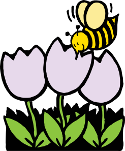 246x297 Bee And Flowers Clip Art