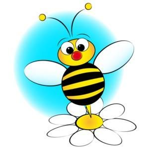 300x300 Bee Hive Clip Art Flower Bee Clipart Gallery