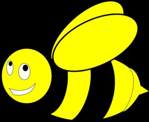299x246 Black And Yellow Honey Bee Clip Art