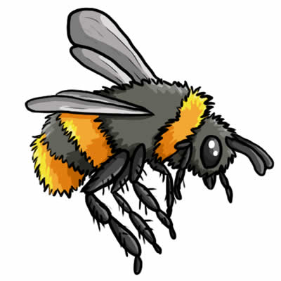 400x400 Free Bee Clip Art Drawings And Colorful Images 2