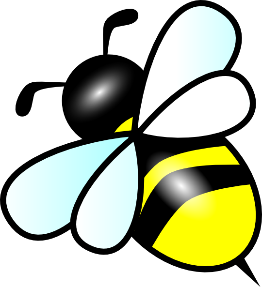 540x593 Image Of Flying Bee Clipart