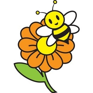 300x300 Honey Bee Clipart Siloutee