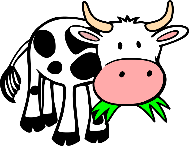 800x615 Cow Clipart Black And White Clipart Panda