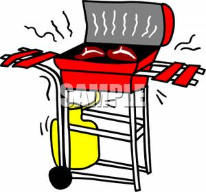 300x279 Two Pieces Of Steak On A Grill Clip Art Image