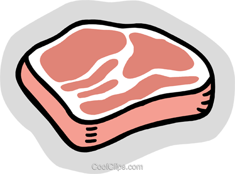 480x356 Food And Dining, Steak Royalty Free Vector Clip Art Illustration