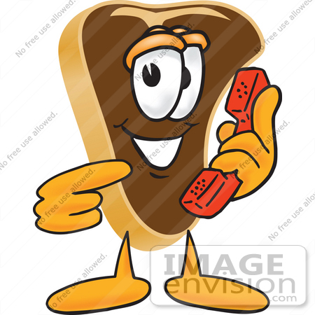 450x450 Clip Art Graphic Of A Beef Steak Meat Mascot Character Holding
