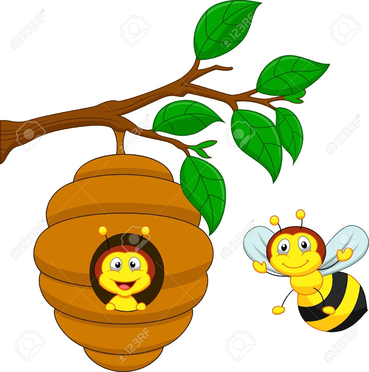 1291x1300 Collection Of Honey Bee Nest Clipart High Quality, Free