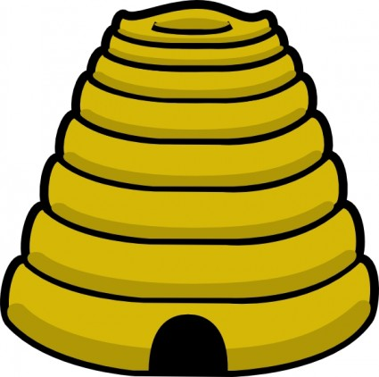 425x422 Image Of Bee Hive Clipart