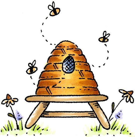 543x550 Bee Hive Clip Art