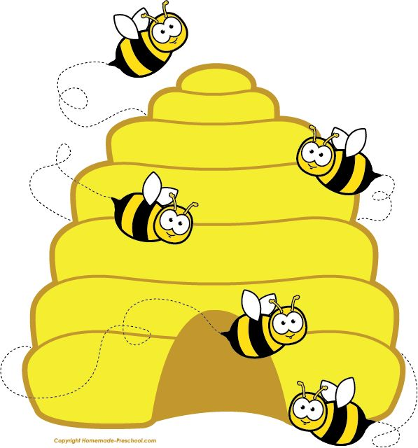 597x640 Home Free Clipart Bee Clipart Beehive Bees Bee Themed Classroom