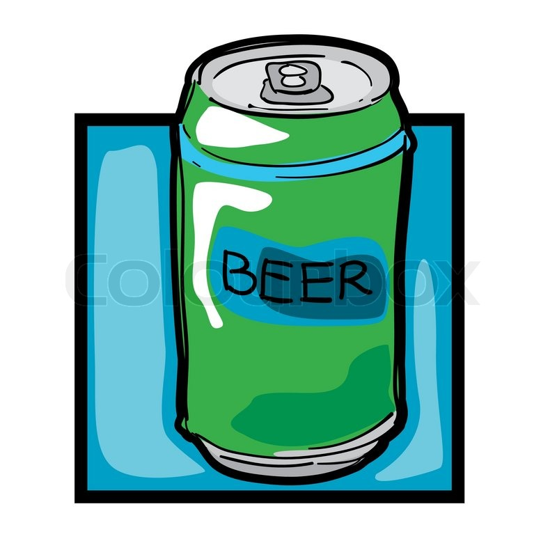800x800 Classic Clip Art Graphic Icon With Beer Can Stock Vector Colourbox