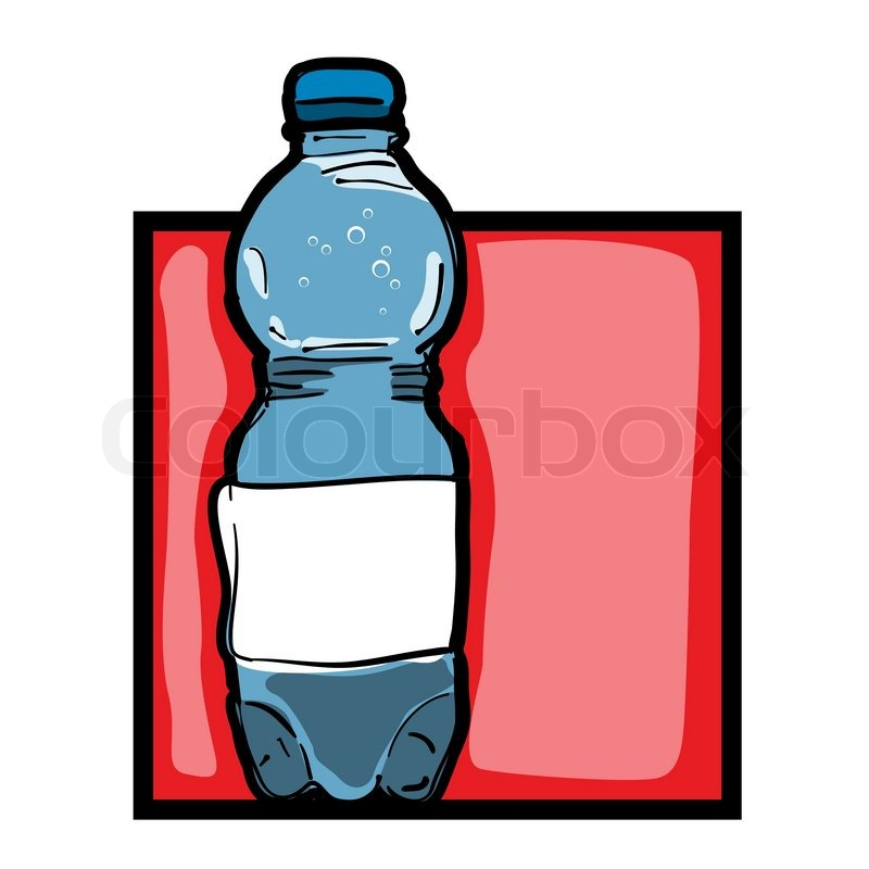 800x800 Classic Clip Art Graphic Icon With Mineral Water Bottle Stock
