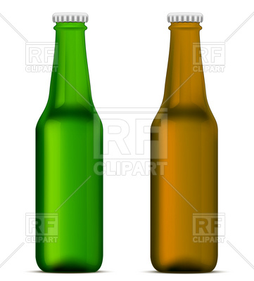 361x400 Green And Brown Beer Bottles Royalty Free Vector Clip Art Image