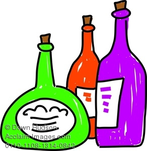292x300 Royalty Free Clip Art Image Wine Bottles Of Various Sizes And Shapes
