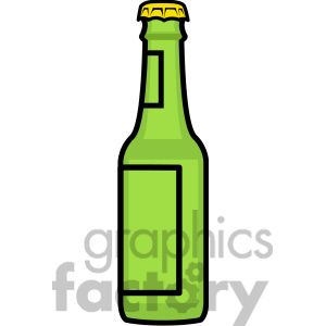 300x300 Six Brown Beer Bottles In White Corton Pack. Side View And Front