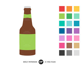 340x270 Gorgeous Beer Bottle Clipart Black With Blank Stickers Royalty