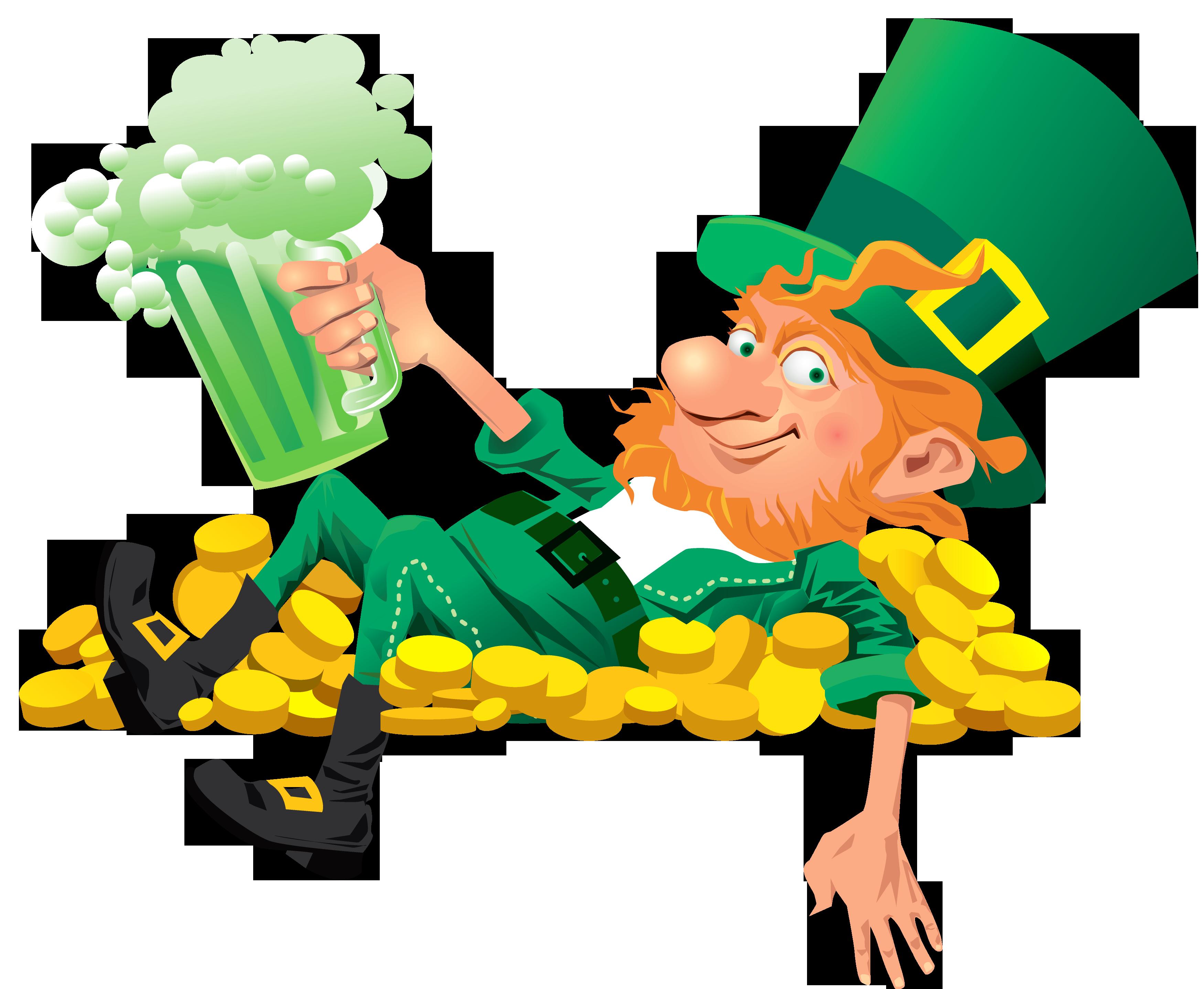 3500x2875 Leprechaun Beer Clip Art Images Free Irish Pub Ideas