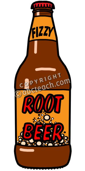 300x600 Root Beer Bottle Clipart