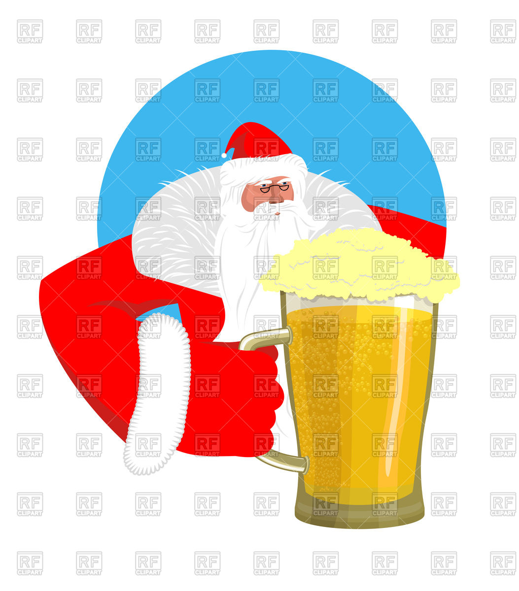 1053x1200 Santa Claus And Big Beer Mug Royalty Free Vector Clip Art Image