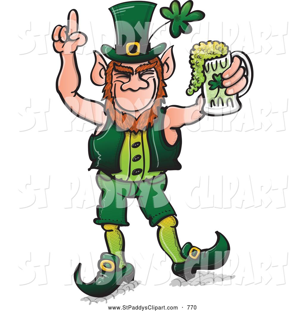 1024x1044 Vector Clip Art Of A Creepy St Patricks Day Leprechaun Celebrating