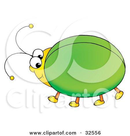 450x470 Clipart Illustration Of A Brown Horned Beetle By Alex Bannykh